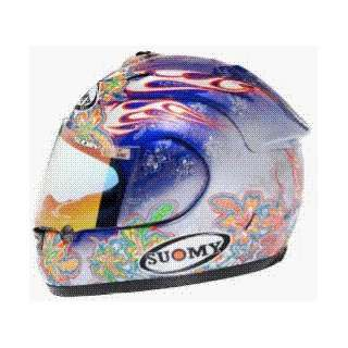 SUOMY SPEC 1R EXTREME FLOWERS HELMET BLUE/SILVER 3XL