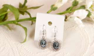 cameo earrings white gold wgp gray please review the photos below