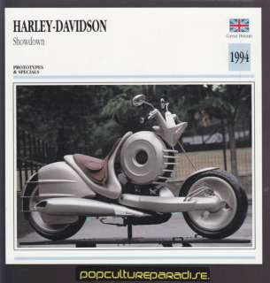 1994 HARLEY DAVIDSON SHOWDOWN Motorcycle Picture CARD