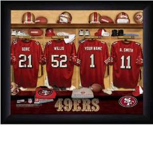 San Francisco 49ers Personalized Locker Room Print Sports