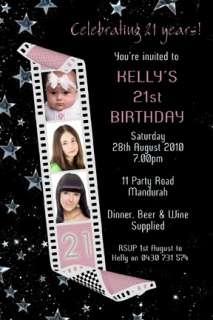 Personalised Filmstrip Birthday Invitation 21st 18th