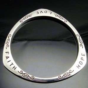 Love Hope Faith Valentines Gift Women Bracelet Bangle