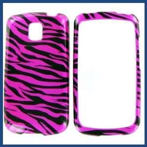 Zebra on Hot Pink Hot Pink/Black Protective Case
