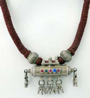 vintage sterling silver tribal jewelry beads necklace p