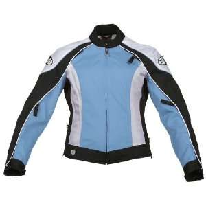 Joe Rocket Lotus Ladies Textile Motorcycle Jacket Blue/White/Black