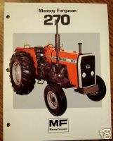 Massey Ferguson MF 270 Tractor Spec Sheet Brochure