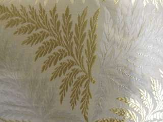 AMAZING BEAUTIFUL ANTIQUE FRENCH SILK FABRIC W/FERNS