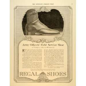 1917 Ad Regal Shoes Army Officers Field Service WWI