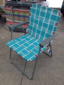 /aluminum STYLE WEBBED/MESH/WEB FOLDING CAMP/PATIO/LAWN CHAIR