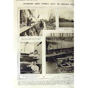 1917 WAR SHIP BUILDING CABIN ENGINE ROOM CAPAIN Home