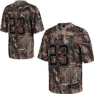 Miami Dolphins NFL Jerseys #23 Ronnie Brown Camo Authentic