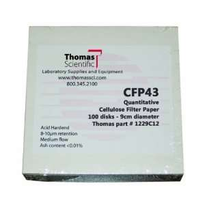 Thomas CFP43 055 Cellulose Quantitative Filter Paper, 5.5cm Diameter