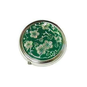 mother of pearl pill case, Green cherryblossom: Home & Kitchen