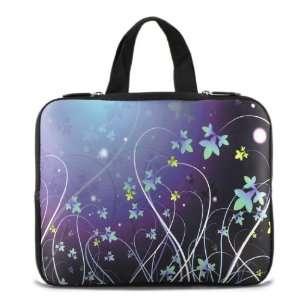 Blue Flower 10 Laptop Bag Sleeve Case For HP Dell Mini