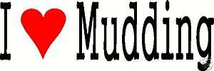 HEART MUDDING 4 Wheeler Vinyl Window Decal Sticker