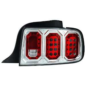 com Ford 2005 2008 Mustang Tail Lamps/ Lights, LED Crystal Clear Euro