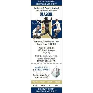 San Diego Padres Colored Ticket Invitation Sports