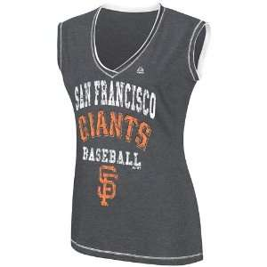 Francisco Giants Womens My Crush V Neck Fashion Top   Small Sports