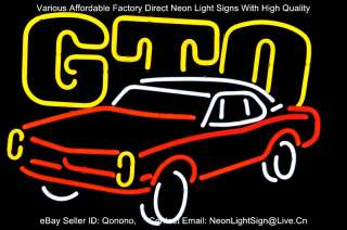 GM GTO US AUTO CAR PONTIAC PUB BEER BAR NEON LIGHT SIGN