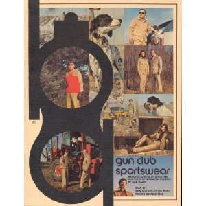 Gun Club Sportswear Catalog 1974 Bob Allen Books