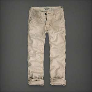 Abercrombie & Fitch Latham Pond Mens Khaki Pants Classic Fit 33x30