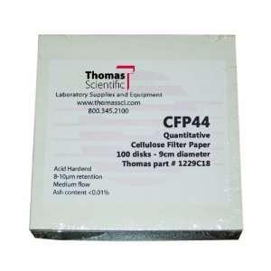 Thomas CFP44 090 Cellulose Quantitative Filter Paper, 9cm Diameter, 1