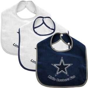 McArthur Dallas Cowboys Infant 3 Pack Litte Fan Bib Set