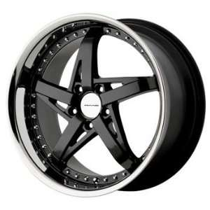 KMC KM187 19x8 Black Wheel / Rim 5x115 with a 42mm Offset and a 72.56