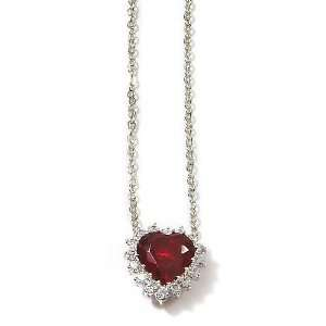 Bay Studio Ruby Red Heart Pendant Necklace Jewelry