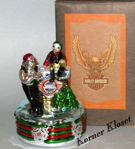 Harley Davidson North Pole Musical Display   MIB
