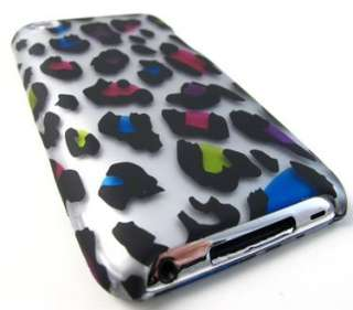 WILD COLORFUL LEOPARD HARD SHELL CASE COVER APPLE IPOD TOUCH 4 4TH GEN