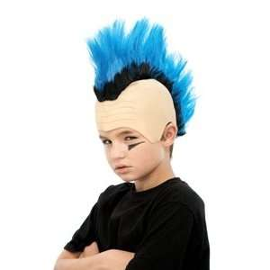 Mohawk Wig (blue) Child Halloween Costume Accessory (B876