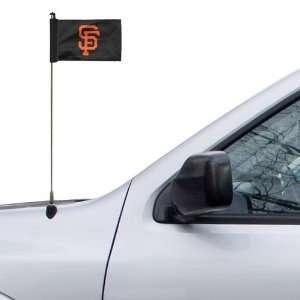 San Francisco Giants 4 x 5.5 Black Antenna Flag Sports