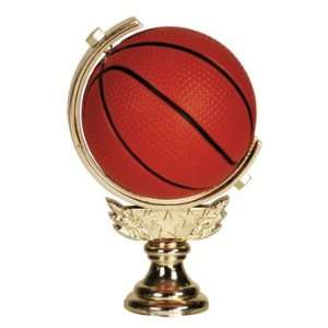 Gold 5 Spinning Soft   Basketball Trophy Figure Trophy