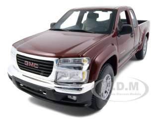 2004 GMC CANYON BURGUNDY 118 DIECAST MODEL CAR BY MAISTO 31679