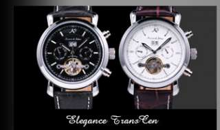 NEW Fashion Black Leather Dial Men/Lady Quartz Wrist Watch Elegant