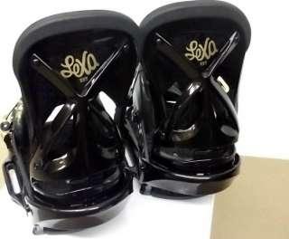 BURTON LEXA EST SNOWBOARD BINDINGS B BLACK GOLD WOMENS S