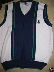 GABICCI golf golfers theme sweater vest sleeveless