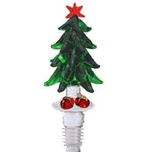 Hand blown Christmas Tree W/Presents Wine Stopper by Yurana Designs
