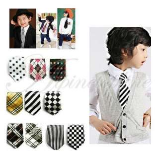 Fashion Kids Baby Boys Childrens Neck Ties Necktie With Elastic Ten