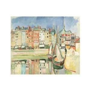 Honfleur Dock, 1906 by Raoul Dufy 14x11