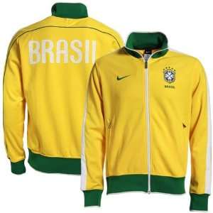 Nike Brazil Gold Soccer Track Jacket Sports & Outdoors