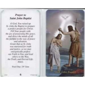 Prayer to Saint John Baptist Laminated Holy Card