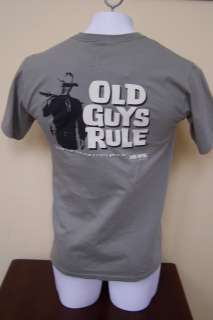 Old Guys Rule John Wayne The Duke Cactus Green Preshrunk Cotton T