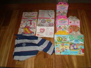 HAPPY MEAL LOT & SHIRT ,GREAT FOR HALLOWEEN TREATS & PARTY
