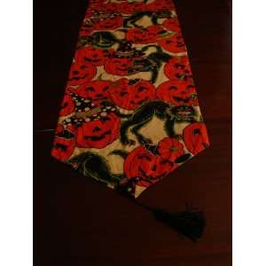 Vintage Style Halloween Table Runner 46x15 Everything