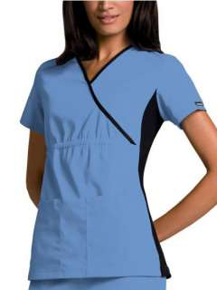 New/Tags Cherokee Flexible Mock Wrap Scrub Top, sizes XS 3X, 8