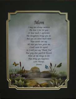 MOM PERSONALIZED POEM BEAUTIFUL GIFT FOR MOTHER