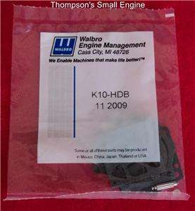 Walbro K10 HDB OEM Carburetor Rebuild Kit Fit HDB Carb Fits McCulloch