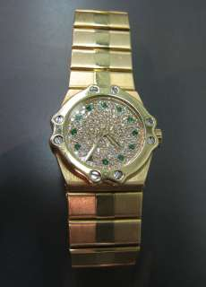 Chopard St Moritz 18K Yellow Gold Diamond & Emerald Watch Ref.   5156